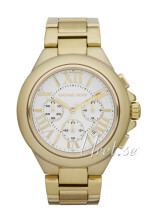 Michael Kors Camille Chronograph Vit/Gulguldtonat stål