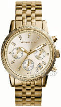 Michael Kors Ritz Chronograph Glitz Champagnefärgad/Gulguldtonat