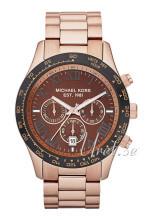 Michael Kors Layton Chronograph Brun/Roséguldstonat stål