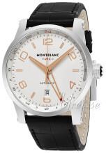 Montblanc Timewalker Silverfärgad/Läder Ø42 mm