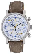 Nautica Chronograph Vit/Läder