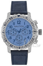 Nautica Chronograph Blå/Läder