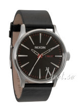Nixon The Sentry Leather Svart/Läder Ø42 mm
