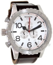 Nixon The 51-30 Leather Vit/Läder