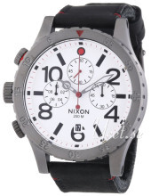 Nixon The 48-20 Vit/Läder Ø48 mm