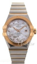 Omega Constellation Brushed Chronometer Vit/18 karat roséguld