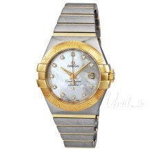 Omega Constellation Brushed Chronometer Vit/18 karat gult guld
