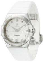 Omega Constellation Quartz 35mm Vit/Gummi