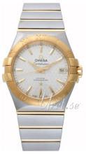 Omega Constellation Co-Axial 35mm Silverfärgad/18 karat gult gul