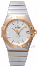 Omega Constellation Co-Axial 38mm Silverfärgad/18 karat roséguld