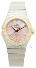 Omega Constellation Co-Axial 27mm Rosa/18 karat gult guld