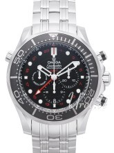 Omega Seamaster Diver 300m Co-Axial GMT Chronograph 44mm Svart/S