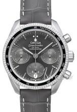Omega Speedmaster Chronograph 38Mm Grå/Läder Ø38 mm