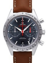Omega Speedmaster 57 Co-Axial Chronograph 41.5mm Blå/Läder