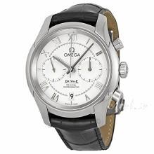 Omega De Ville Co-Axial Chronograph 42mm Silverfärgad/Läder