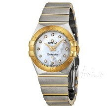 Omega Constellation Quartz 27mm Vit/18 karat gult guld