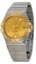 Omega Constellation Quartz 35mm Gulguldstonad/18 karat gult guld