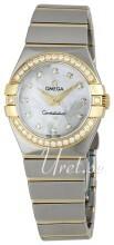 Omega Constellation Quartz 27mm Vit/18 karat gult guld