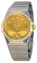 Omega Constellation Co-Axial 35mm Champagnefärgad/18 karat gult