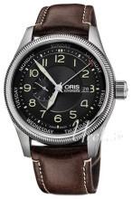 Oris Aviation Svart/Läder