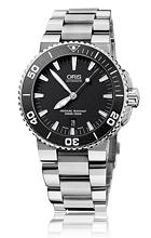 Oris Divers Aquis Date Svart/Stål