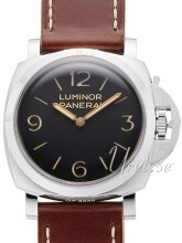Panerai Historic Luminor 1950 3 Days Svart/Läder Ø47 mm