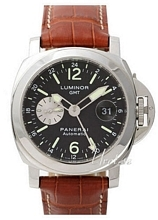 Panerai Contemporary Luminor GMT Svart/Läder Ø44 mm