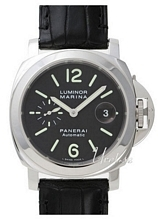 Panerai Contemporary Luminor Marina Automatic Svart/Läder Ø44 m