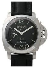 Panerai Historic Luminor 1950 8 Days GMT Svart/Läder Ø44 mm