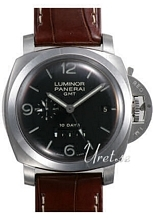 Panerai Contemporary Luminor 1950 10 Days GMT Svart/Läder Ø44 mm