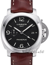 Panerai Contemporary Luminor 1950 3 Days GMT Automatic Svart/Läd