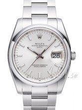 Rolex Perpetual Date Silverfärgad/Stål Ø34 mm