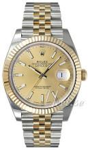 Rolex Datejust41 Gulguldstonad/18 karat gult guld