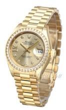Rolex Lady-Datejust 28 Gulguldstonad/18 karat gult guld Ø28 mm