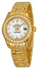 Rolex Pearlmaster 29 Vit/18 karat gult guld