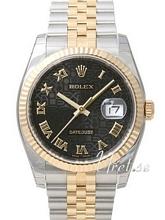 Rolex Datejust Black Dial Yellow Gold / Steel Jubilee Bracelet