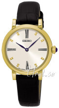 Seiko Dress Ladies Vit/Läder Ø29 mm
