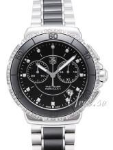 TAG Heuer Formula 1 Steel And Ceramic Chronograph Diamonds Svart