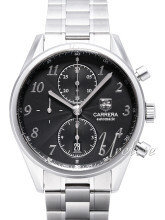 TAG Heuer Carrera Heritage Chronograph Black Dial Bracelet