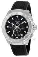 TAG Heuer Aquaracer Chronograph Svart/Gummi