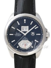 TAG Heuer Grand Carrera Calibre 8RS Grande Date And GMT Svart/Lä