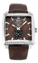 TAG Heuer Monaco Grande Date Diamond Dial And Case Brun/Läder 37
