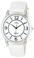 Timex Classic Elevated Vit/Läder Ø35 mm