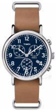 Timex Weekender Blå/Läder Ø40 mm