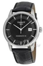 Tissot T-Classic Luxury Automatic Svart/Läder Ø41 mm