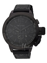 TW Steel Canteen Black Dial Leather Strap