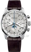 Zenith El Primero Silverfärgad/Läder Ø42 mm